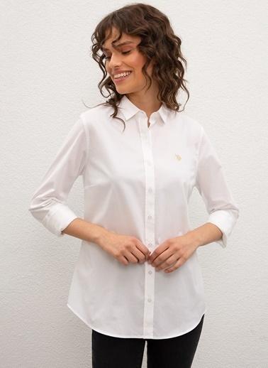 U.S. Polo Assn. U.S. Polo Assn. Saly Kadın Gömlek 761622 761622015 Beyaz